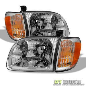 For 2000 2004 Toyota Tundra Regula access Cab Headlights parking Corner Lights