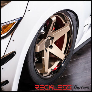 20 Blaque Diamond Bd21 Bronze Staggered Wheels Rims Fits Ford Mustang Gt Gt500