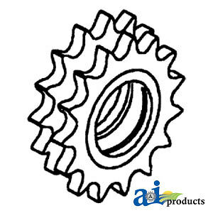 A 274134m1 Massey Ferguson Parts Double Idler Sprocket 550 750 760 850 860