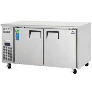 New 60 Under Counter Freezer Everest Etwf2 4422 Nsf Stainless Steel 2 Door