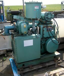 Stokes Model 212h 11 Vacuum Pump W roots Model 38 rgs Rotary Lobe Booster Pump