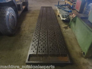 208 X 36 x 8 Steel Acorn Welding T slot Table Cast Iron Layout Plate Fixture