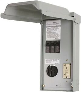 Ge Ge1lu502ss Unmetered Rv Outlet Box 70 Amp