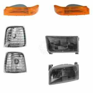 Oem 6 Piece Headlight Corner Parking Light Kit For Ford Bronco F150 F250 F350