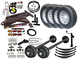 Hydraulic Dump Trailer Parts Kit Tandem Electric Brake Axles Model 14hd Hd