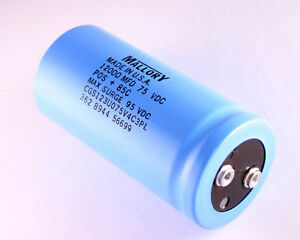 1x 12000uf 75v Large Can Electrolytic Capacitor 12000mfd 75vdc 85c 95v 12 000