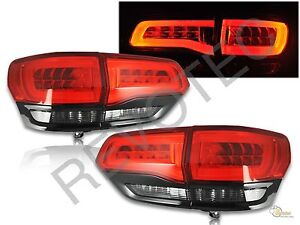2014 2017 Jeep Grand Cherokee Limited Led Tail Lights Red Smoke Black Rh