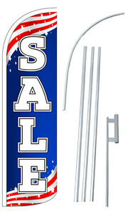 Sale Swooper Flutter Feather Flag Sign Blade Banner 30 Wider Super
