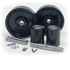 Lrp 5000 Lift rite Pallet Jack Complete Wheel Kit includes All Parts Shown