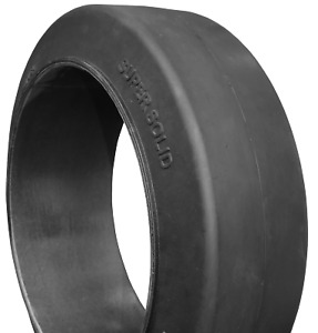 18x6x12 1 8 Tires Super Solid Forklift Press on Black Smooth Tire Usa Made 18612