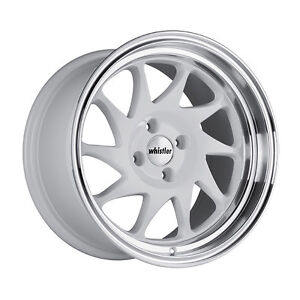 15x8 20 Whistler Kr7 4x100 White Wheel Fits Civic Miata Mx3 Integra Mini Cooper