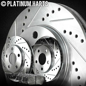 Fits 1994 1998 Land Rover Discovery Front Drill Slot Brake Rotors Semi Met Pads