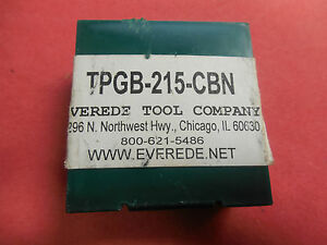 Everede Tool Company Tpgb 215 cbn Carbide Turning Insert