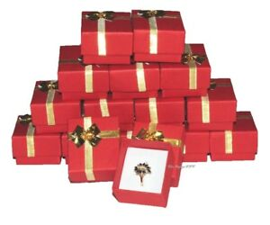 Lot Of 100 Boxes Bow Tie Ring Box Red Gift Box Red Jewelry Box Wholesa