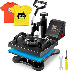 Digital Transfer Sublimation Swing Away 12 x10 T shirt Heat Press Machine