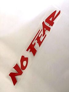 New Red No Fear Auto Car Van Truck Vinyl Graphics Decal Removeable Sticker