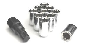 20 1 2 Wheel Locks 8 Point Tuner Lug Nuts 1 2 20 Open End Most Dodge Ford Jeep