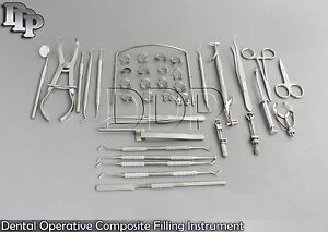 Dental Operative Composite Filling Instrument Rubber Dam Clamps Set Of 37 Dn 552