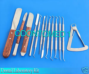 Dental Laboratory Technitians Kit P k Thomas Plaster Knife Wax Carving Spatulas
