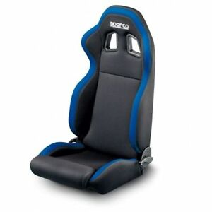 Sparco 00961nraz R100 Steet Seat Black Blue Highback Bucket Steel Frame