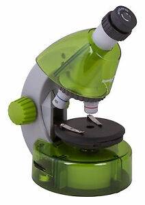 Levenhuk Labzz M101 Lime Microscope For Kids With Experiment Kit