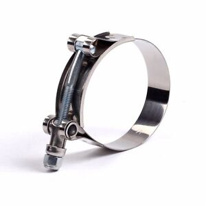 1pc 108mm 116mm Stainless Steel T Bolt Clamp For Id 4 Inch 102mm Silicone Hose
