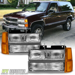 1994 1998 Chevy Silverado Suburban Tahoe Headlights Corner Bumper Parking Lamps