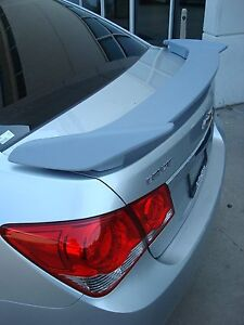 Unpainted Grey Primer For Chevy Cruze 2011 2015 2 Post Sport Spoiler New