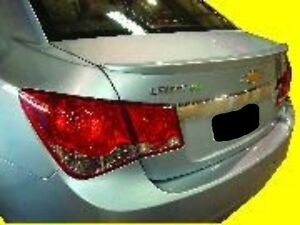 Unpainted Grey Primer For Chevy Cruze 2011 2015 Small Lip Mount Spoiler New