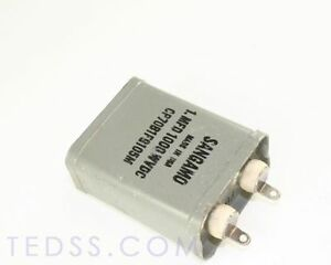 1x 1mfd 1000vdc Hermetically Sealed Oil Capacitor 1uf 1000v Volts Cp70 Series