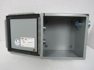 Hoffman A606ch Electric Hinged Cutout Box Enclosure Type 12 13