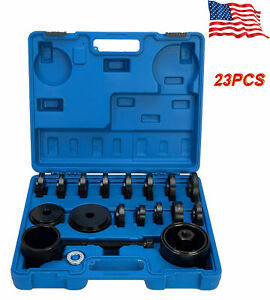 21pcs Fwd Front Wheel Drive Bearing Removal Adapter Puller Pulley Tool Kit Usa