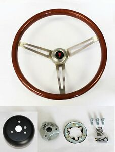 1967 1968 Grand Prix Gto Firebird Le Mans Wood Steering Wheel High Gloss 15