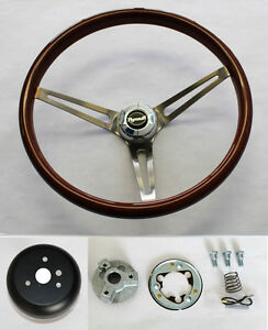 1967 Rr Barracuda Gtx Fury High Gloss Finish Wood Steering Wheel 15 Ss Spokes