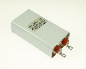 1x 2mfd 600vdc Hermetically Sealed Oil Capacitor 2uf 600v 600 Volts Cp70 Dc