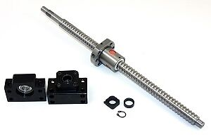 8 Feet Travel Stroke 25mm Anti backlash Ballscrew Set With Nut And Bearing Supp