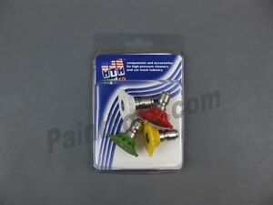 Qc Hydrojet Ss 7 0 Pressure Washer Spray Tips 4 Pack 17 0576