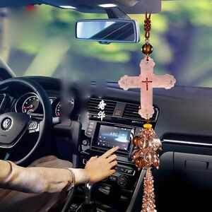 New Jesus Christ Cross Car Pendant Hanging Ornament Car Decor Accessorie