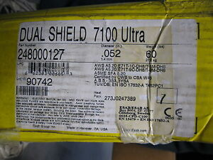 Esab Dual Shield Gas Shielded Mild Steel Flux core Wire 0 052 248000127 60 Lb