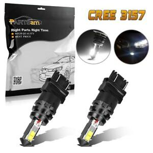 2x 3157 3156 White 40w High Power Cree Led Light Bulbs Backup Reverse Light