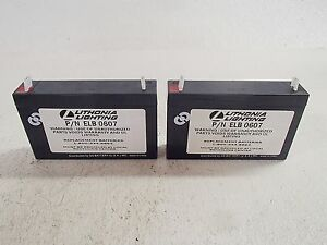 Lithonia Lighting Elb 0607 Battery lot Of 2 New
