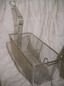 Basket fry 6 5 x12 x5 h Partitioned Stainless 5000844