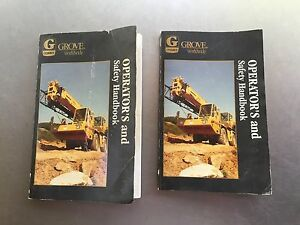 Grove Crane Tms870 Operators And Safety Handbooks Tms 870 Sn 83202 Qty Of 2