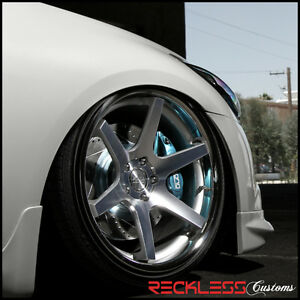 20 Concept One Cs6 Concave Staggered Wheels Rim Silver Fits Chrysler 300c Awd