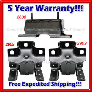 L939 Motor Trans Mount 3pcs For 99 07 Chevy Silverado 1500 4 8l 5 3l 6 0l 4wd