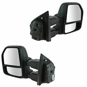 Oem Manual Towing Telescoping Mirror Pair Lh Rh Sides Dual Arm For Ford F150