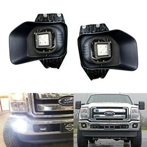 40w Cree Led Cube Fog Light Kit W Bezel Cover Wiring For 2011 16 F250 F350 F450