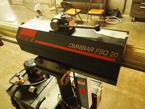 Smw Omnibar Fsq20 Barfeeder Off Of 1990 Citizen L16 20 Swiss Cnc Screw Machine