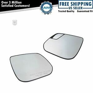 Power Heated Mirror Glass With Backing Plate Lh Rh Pair For Gm Pickup Truck New