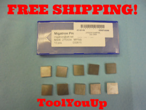 10 Pcs New Migatron Zpe634 M436 Mp5w Carbide Inserts 032615 Machine Shop Tooling